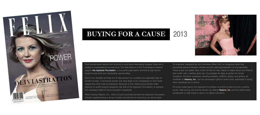Felix Magazine. Buying for a Cause. 2013